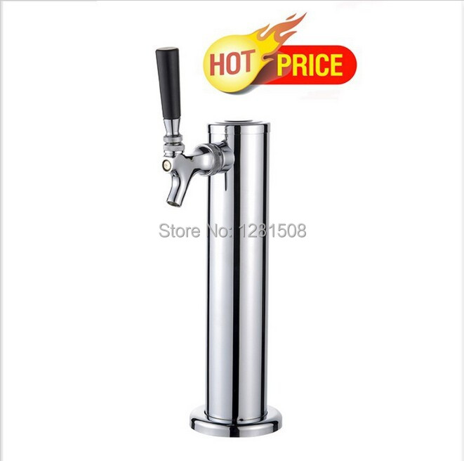 New Good quality !!! One tap chromeplated beer tower Single Tap/Faucet beer tower stainless steel body with brass beer tap(China (Mainland))