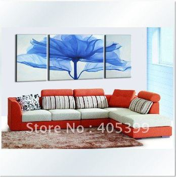 Blue Color Tree Wall Art Painting for Living Room  Hand painted Modern Abstract Oil Painting On Canvas Wall Art  JYJATH003