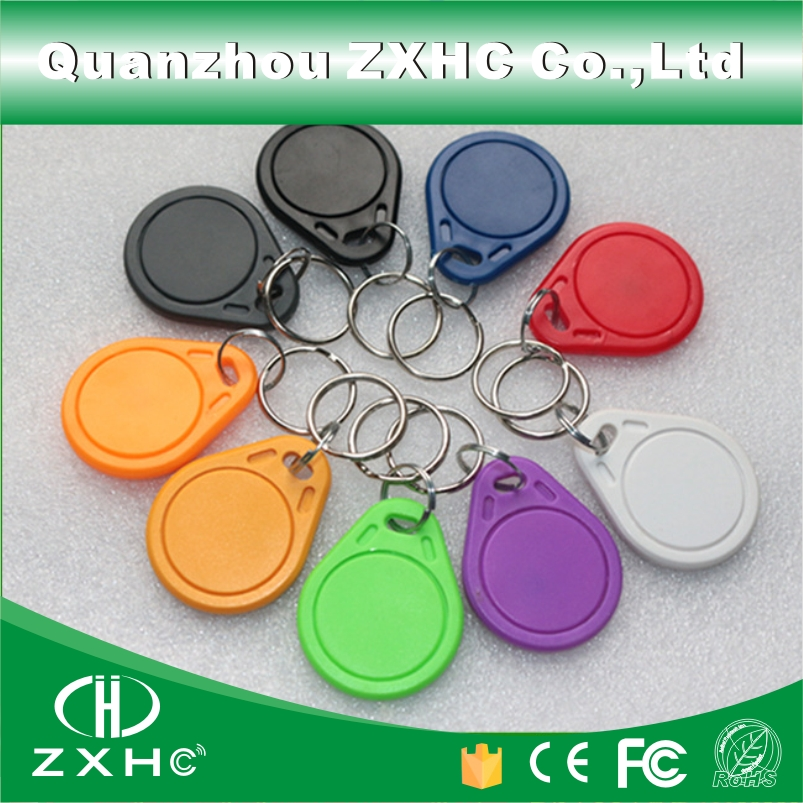 (10pcs/lot) Waterproof ABC RFID Tag keyfob Keychain Key Finder 13.56MHz Access Control Card M1 S50 NFC Tags For Sony(China (Mainland))