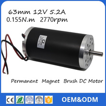 63ZTY03A 12V 3000rpm 175W 0.4 N.m 14.5A Permanent Magnet Brush DC Motor for Electric bicycle or Motorcycle(China (Mainland))
