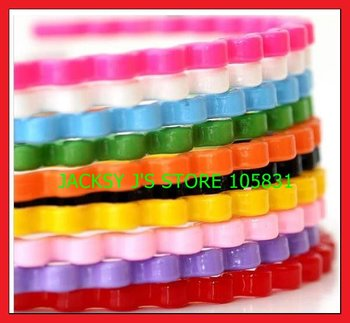 20pcs/lot fashion plastic colorful wave hairbands hair clips accessories for girls