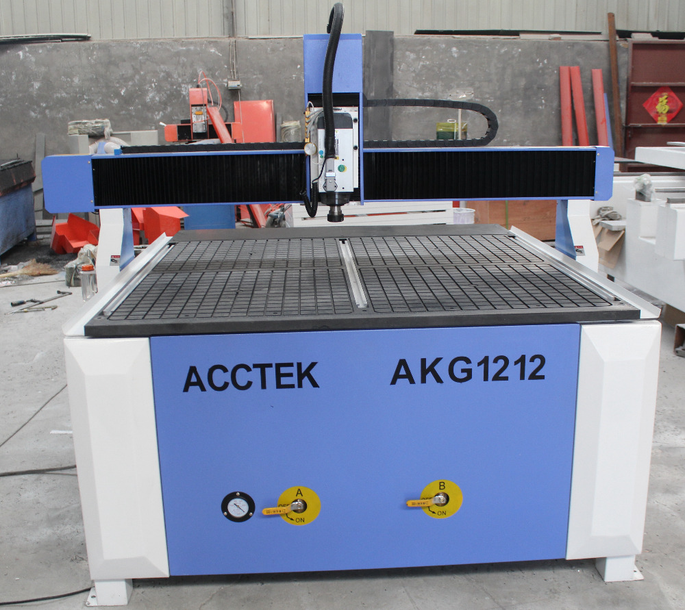 cheaper 4 axis air cooled vacuum table AKG1212 cnc router usb(China (Mainland))