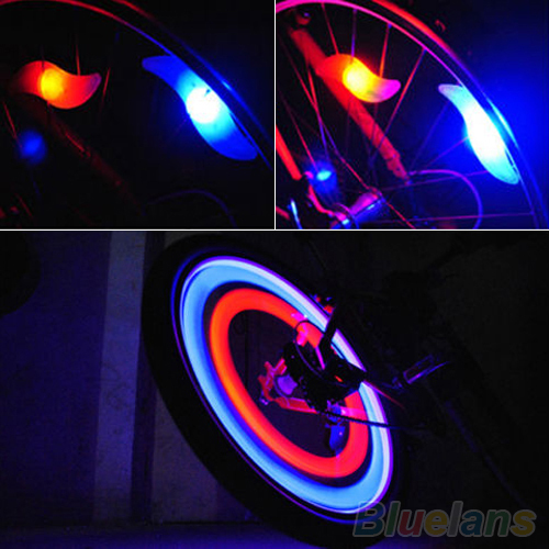 Safety Bright Cycling Car Wheel Tire Tyre LED Spoke Light Lamp Bike bicycle light 2KKF(China (Mainland))