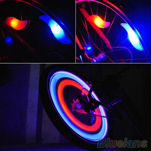 Safety Bright Cycling Car Wheel Tire Tyre LED Spoke Light Lamp Bike bicycle light 2KKF(China (Mainland))