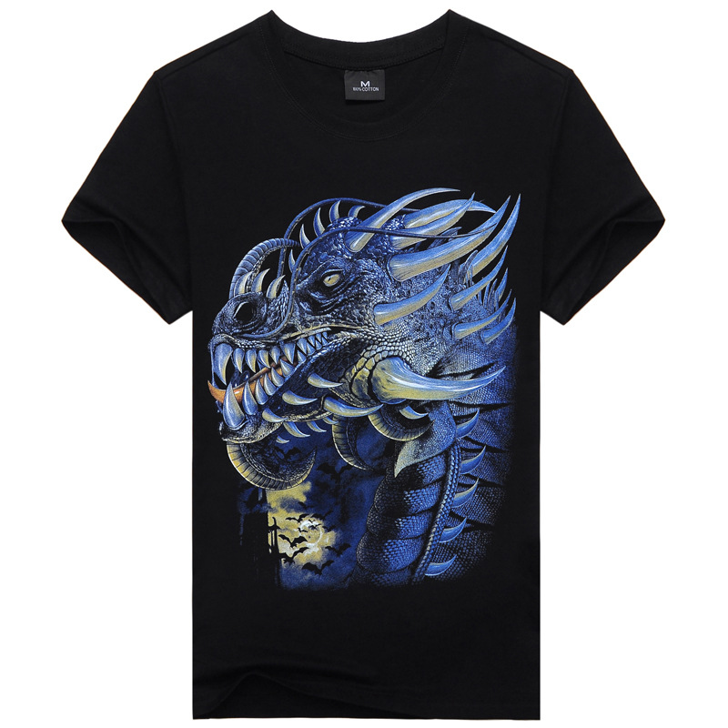 New fashion Men Faucet Animal 3d anime short Sleeve t shirts rock wolf Vest Tees ,swag clothes,plus size M-XXXL,ty2512(China (Mainland))