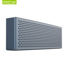 QCY metal M5 speaker bluetooth V4.1 wireless portable 3D stereo sound system MP3 music audio player with 3.5mm AUX TF card(China (Mainland))