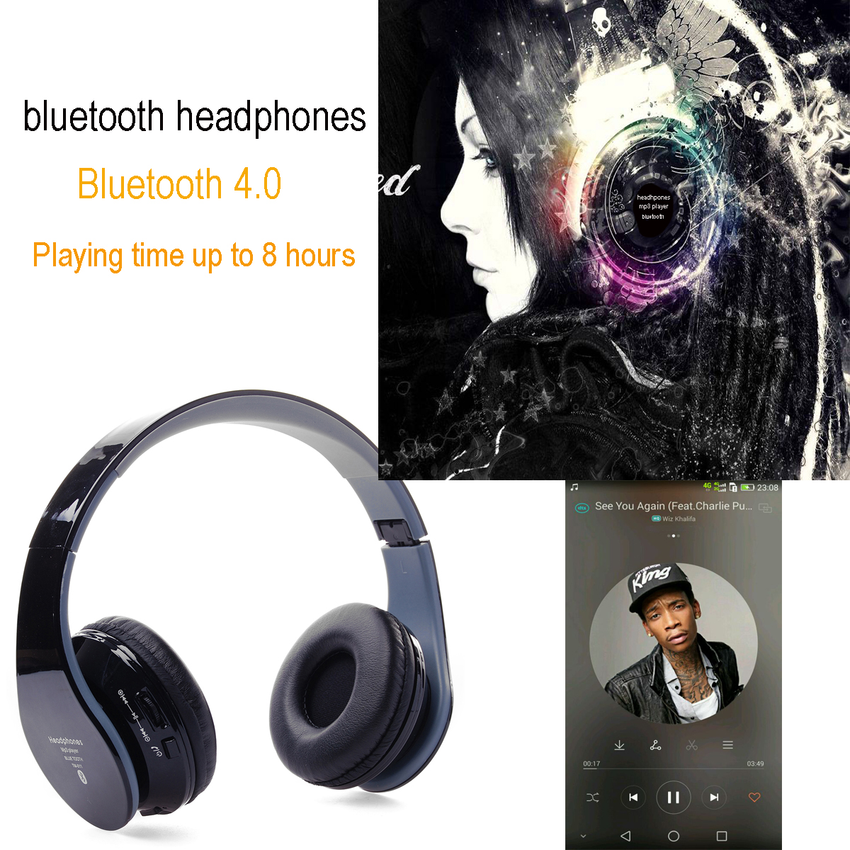 Wireless Bluetooth HandFree Headset Headphone Earphone for iPhone Samsung IP116(China (Mainland))