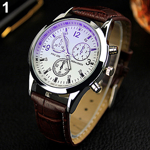2015 New Unisex Military Business Stainless Steel Case Faux Leather Analog Quartz Watch<br><br>Aliexpress
