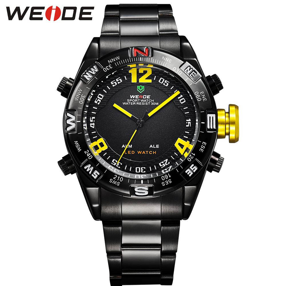 Wristwatch WEIDE Watches Men Luxury Brand Quartz Watch LED Digital Casual Men Sports  Clock Reloj Relogio Masculino<br><br>Aliexpress