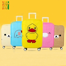Travel on Road Non-Woven Fabric Luggage Cover Protective Waterproof Dust-proof Anti-Theft Durable Cover For Trolley Suitcase(China (Mainland))