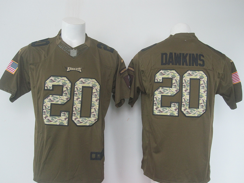 2016 New Arrival Men Philadelphia Eagles 20 Brian_Dawkins Green Salute To Service Limited(China (Mainland))