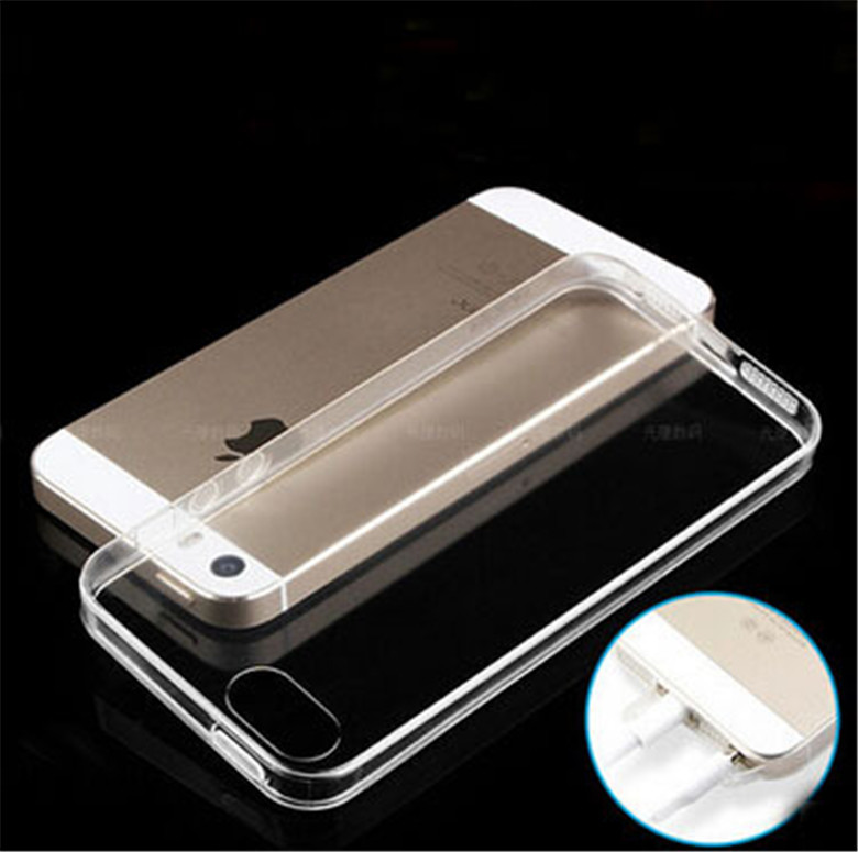 iPhone 5 5S 5G 0.3mm Ultra Thin Soft TPU Transparent Phone case Cover Gel Capa Coque Fundas Carcasa Cell Capinhas Rubber - Yuki Lyy store