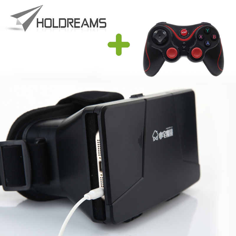 Xiaozhai 1S Google Cardboard Virtual Reality 3D VR Video Glasses for 3.5 to 6.0 Screen + T3+ Bluetooth Gamepad Controller<br><br>Aliexpress