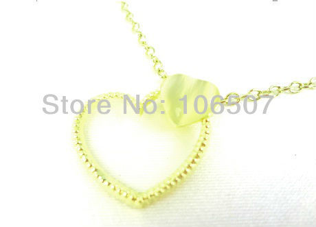 100pcs free shipping by express! lovely Romantic small double heart nacklace clavicle jewelry Short choker necklace wholesale