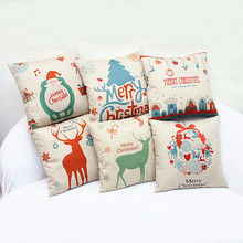 Buy Cushion Cover Merry Christmas Letter Printing Style Christmas Gifts Christmas Tree Throw Pillow Pillowcase Sofa Home Decorative for $2.99 in AliExpress store