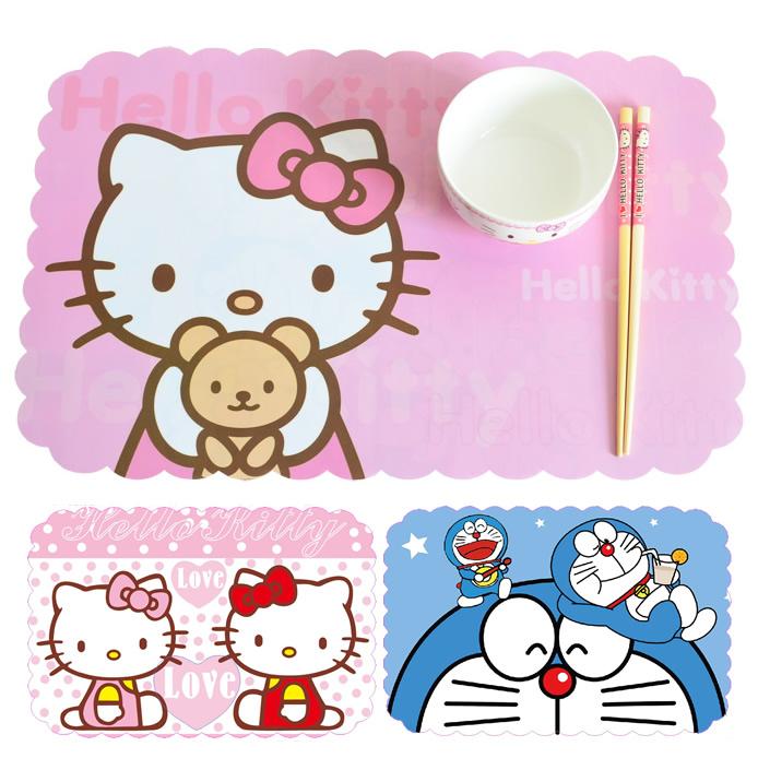 4 Pieces/set 45x28.5cm High Quality PVC Hello Kitty Placemats Bar Restaurant Cartoon Modern Europe Plastic Table Mat Wedding(China (Mainland))