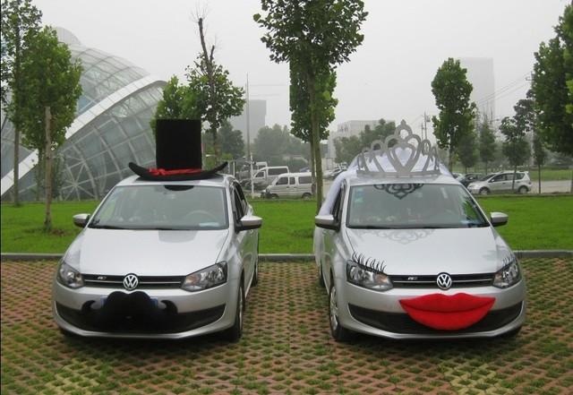 Livraison gratuite nouveau design de mari e et de mariage - Decoration de voiture de mariage original ...