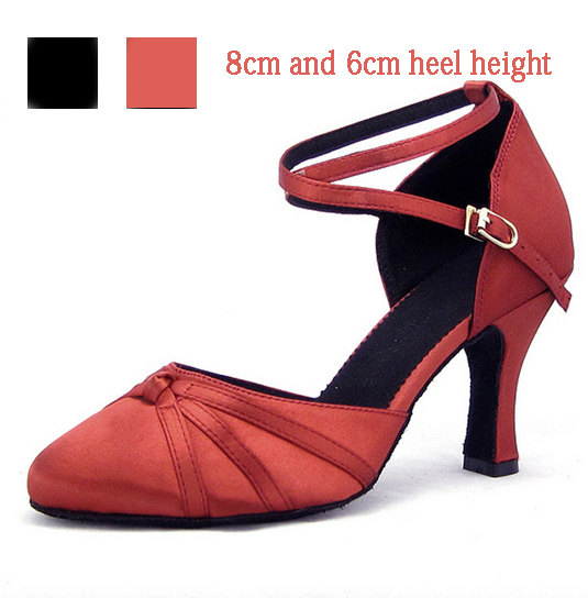 Womens Satin Dance Shoes Closed Pointed Toe Latin Ballroom Salsa Dancing Shoes For Girls Closed Toe Latin Dance Shoes Wholesale<br><br>Aliexpress