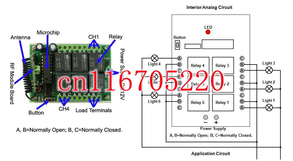 1000M 6CH 12 Volt Wireless Remote Control Switch ON OFF DC 12V Battery Wireless Power Relay Receiver & Transmitter Manufacturer(China (Mainland))