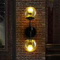 American Country Creative Loft Style Iron Wall Light Vintage Coffee Shop Dining Room Decoration Glass Wall