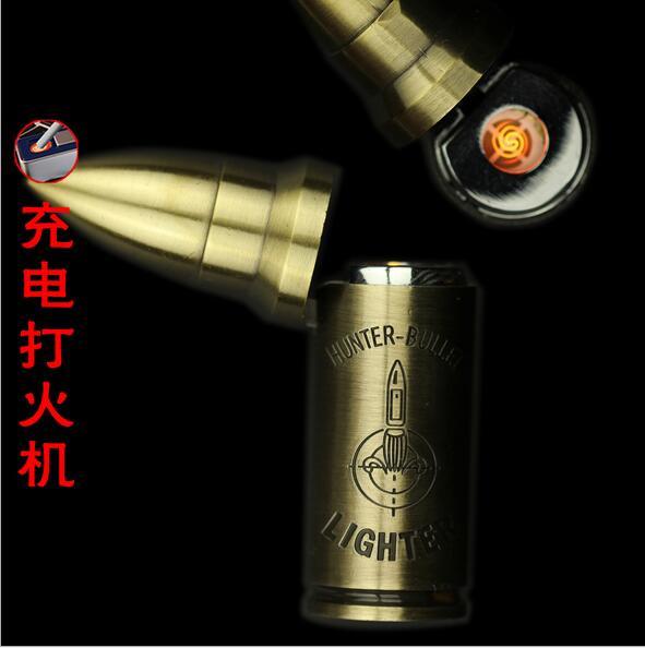 ถูก สร้างสรรค์โลหะนวนิยายบุหรี่อิเล็กทรอนิกส์เบาWindproofไฟแช็USBชาร์จของขวัญแฟชั่น
