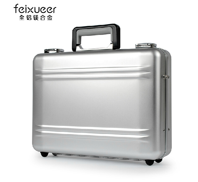 Aluminium magnesium alloy suitcase Metal suitcase Commercial case briefcase size Large (Free shipping)(China (Mainland))