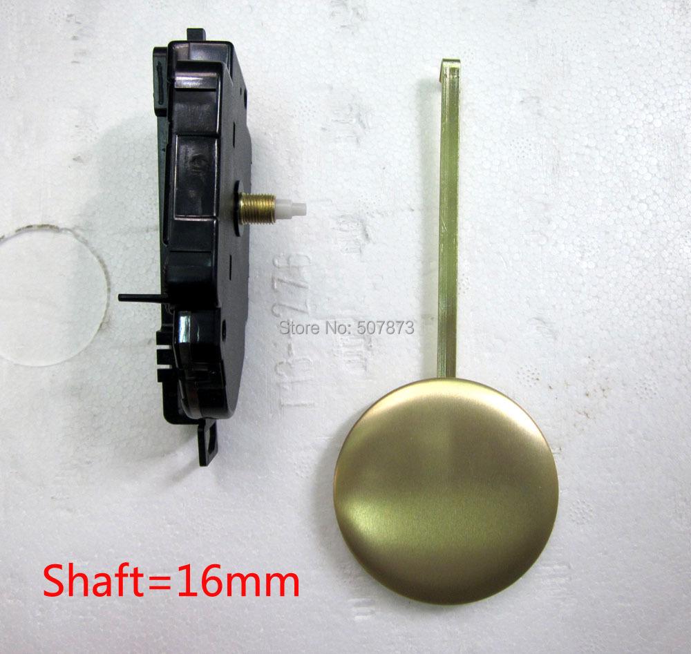 1 комплект Кварцевые часы движение маятника и качания аксессуары комплект шпинделя механизма вала 16мм прыгать секунд звук щелчков механизма