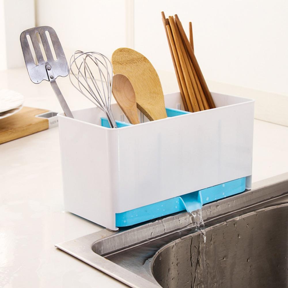Гаджет  Colorful Kitchen Storage Tools Drain chopsticks cage spoon storage box  S7NF None Дом и Сад