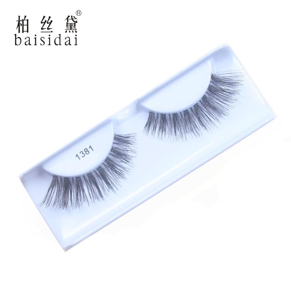 Fashion Style High Quality Full Handmade Made 100% Human Hair Flase Eyelashes Extension Eyelashes  #1362<br><br>Aliexpress