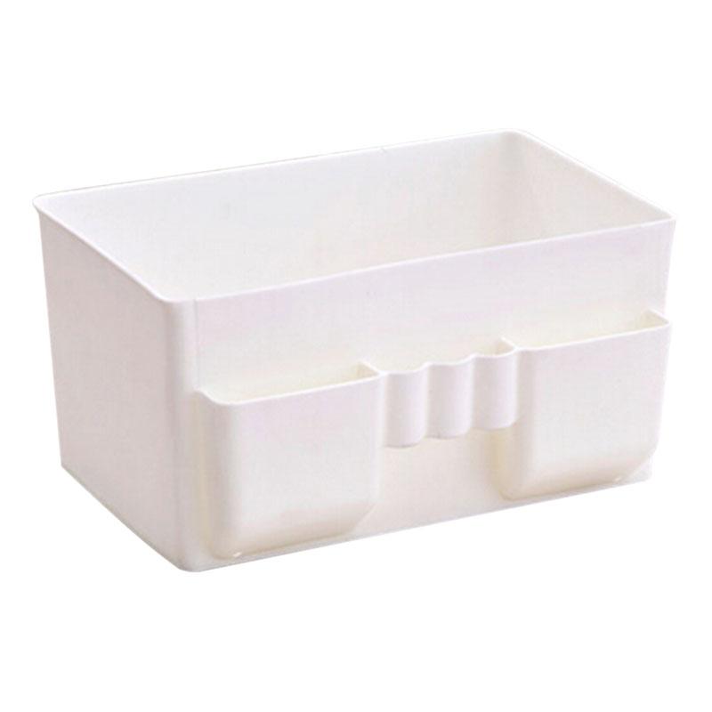 White Durable Plastic Office Desktop Storage Boxes Makeup Organizer Storage Box Compact Design 2016 New Arrival(China (Mainland))