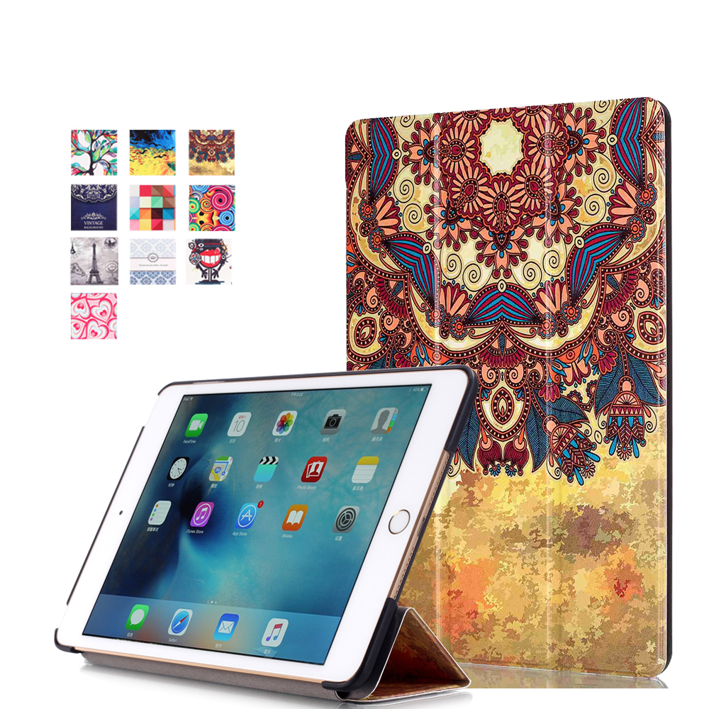 For Apple ipad mini 4 Cool Colourful Fasion drawing Mini Pad Slim Leather Cover Case Tablet Smart Protect Shell<br><br>Aliexpress