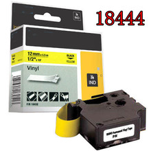 5pcs dymo 18444 Compatible DYMO IND Vinyl Labels 18444 black on white typewriter ribbon label maker  tape dymo label printer
