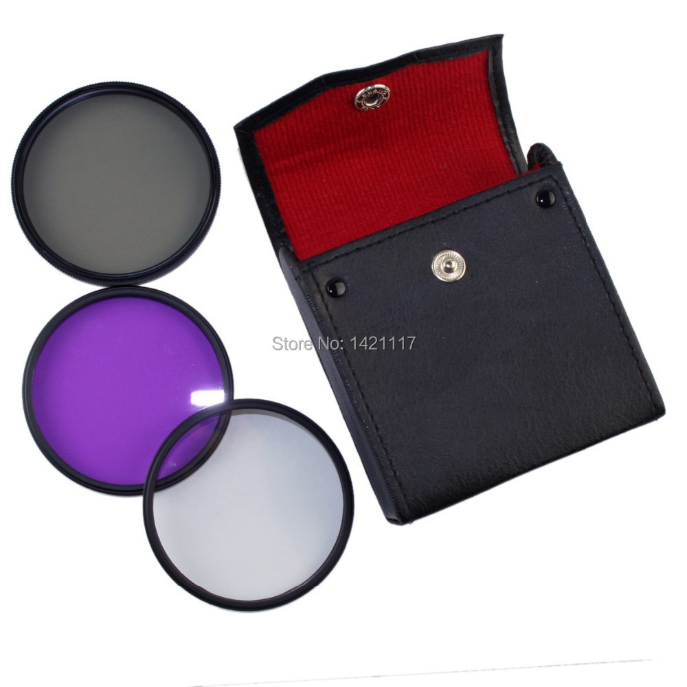 Filter Case Bag 77mm CPL UV FLD lens fiter filters kit for SLR DSLR camera for Canon Nikon Sony Olympus(China (Mainland))
