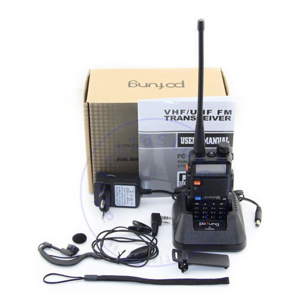 Promotion Dual Band Walkie Talkie BAOFENG UV 5R Handheld Radio With Free Shipping