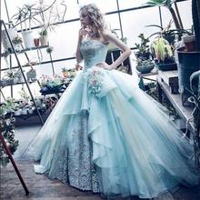2016 Unique Elegant Free Shipping Wedding Dresses Sexy Women Girl Wedding Dress Gown Sleeveless Wedding dresses(China (Mainland))