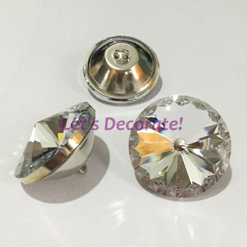 200PCS/LOT 25MM Satellite Crystal Glass Buttons For Sofa Industry Or Other Decoration Fileds(China (Mainland))