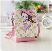 Original Designer Cartoon PU Leather Children Messenger Bags Double Zipper Fashion Lady Girl Small Kindergarten Shoulder Bags(China (Mainland))