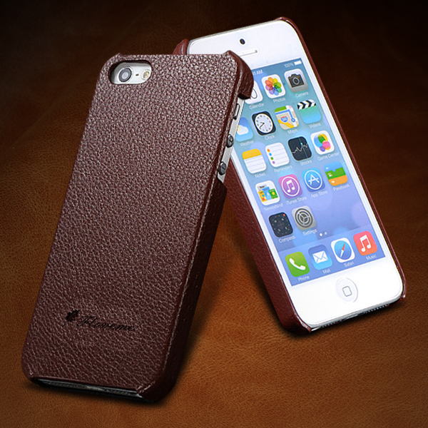 4s 5s Genuine Leather Case Original Real Cowhide Leather Cover for Iphone 5 5s 5g 4 4s 4g Ultra Thin Protective Skin Back Case(China (Mainland))
