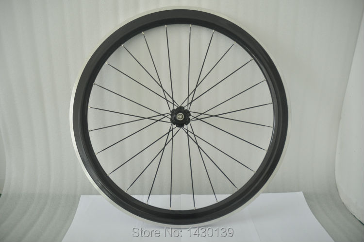 1pair New 700C 50mm clincher rim Road bike carbon bicycle wheelsets with alloy brake surface +hubs+aero spokes+skewers Free ship(China (Mainland))