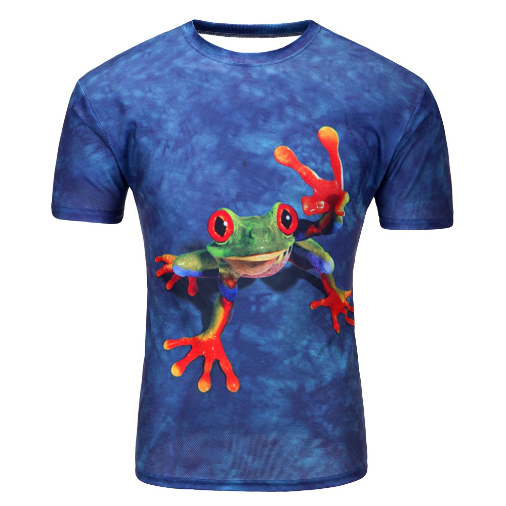 Men Fashion 3D Animal Creative T-Shirt Lightning smoke lion lizard water droplets printed short sleeve T Shirt CSY0509(China (Mainland))