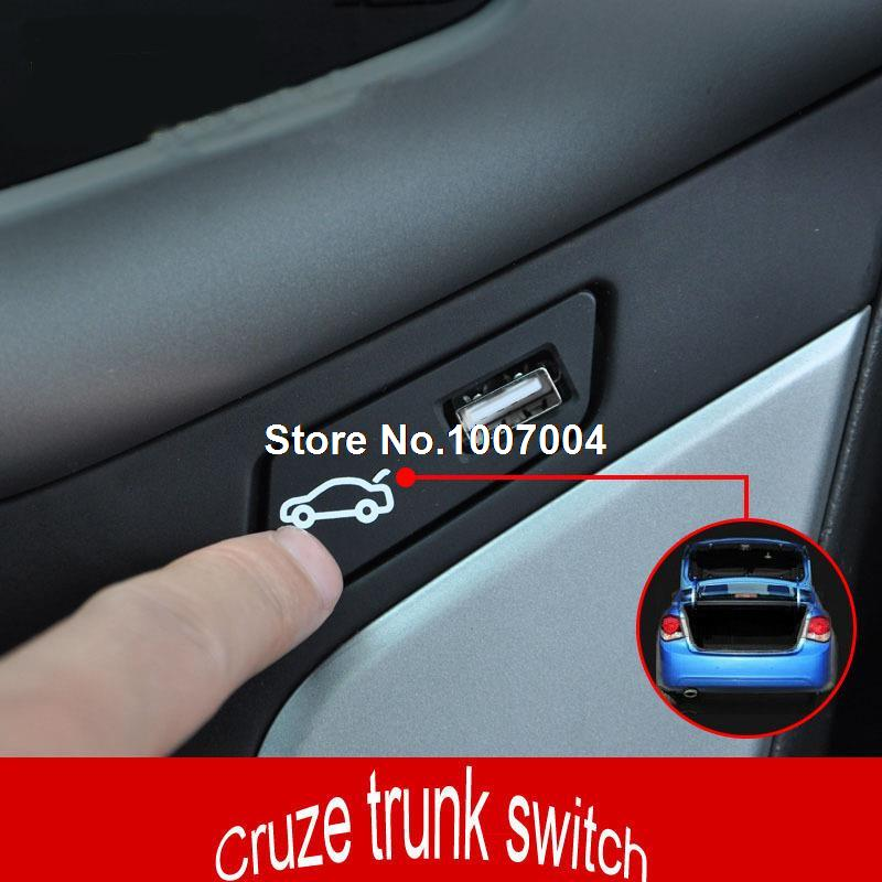 Car refiting Trunk switch button assembly/ luggage box open and close button switch assembly fit for Chevrolet Cruze(China (Mainland))