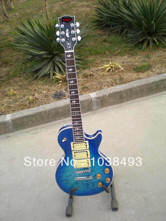 wholesale all kinds of high quality face LP electric guitar tiger stripes can customize the EMS free shipping(China (Mainland))