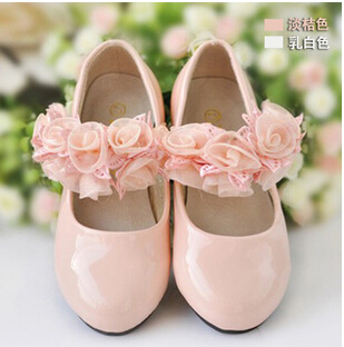 2015 Top Quality Children Girls Princess shoes baby Flats shoes Girl Round Toe PU shoes children dress shoes 8-13.5(China (Mainland))