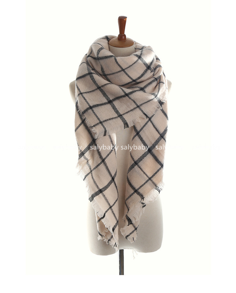The Original 2016 Winter Big Black And White Art Plaid Scarf Shawl Wholesale Manufacturers All-match Female