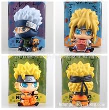 Naruto Uzumaki Naruto Namikaze Minato Hatake Kakashi Piggy Bank PVC Figures Collectible Model Toys