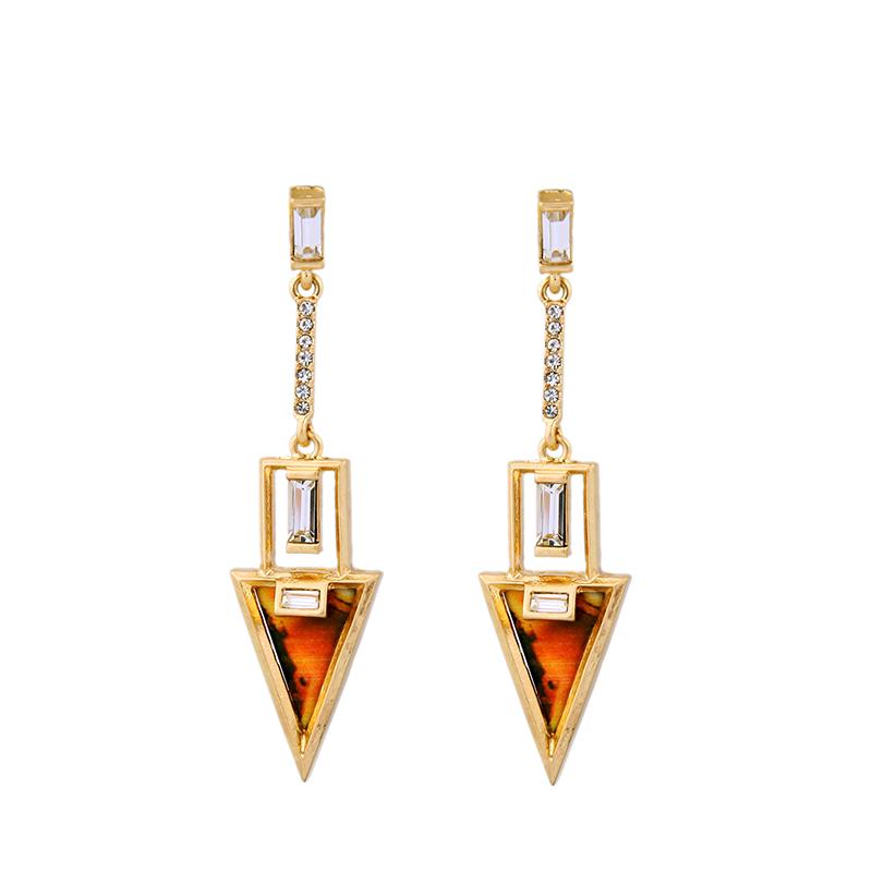 buy ol style alloy vintage dangle earrings new popular triangle pendant. Black Bedroom Furniture Sets. Home Design Ideas