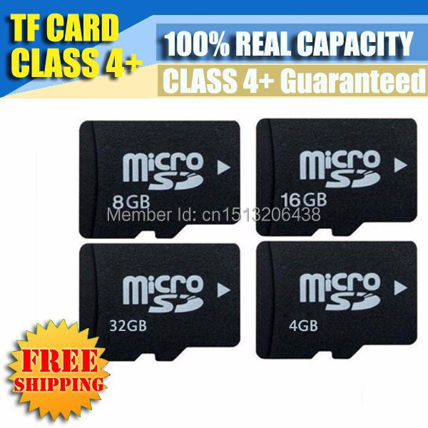 Micro SD Card Memory Card 32GB 16GB 8GB 4GB 2GB 1GB TF Card Real Capacity or Full Refund Free Adapter Free Shipping(China (Mainland))