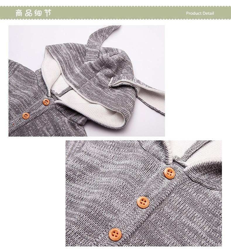 Скидки на Новые дети одевая девушки парни комбинезон детей свитер мультфильм животных моделирование ползающие одежда ползунки неонатальной одежда