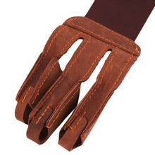 Archery Protect Glove 3 Fingers Pull Bow arrow Leather Shooting Gloves New