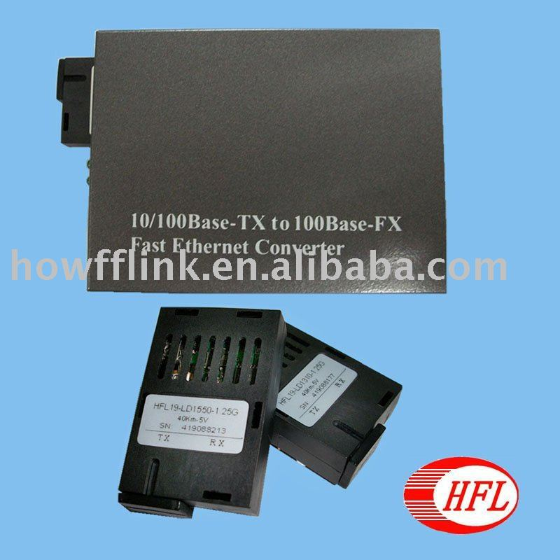 fast ethernet media converter 40km 100m sale - Shenzhen Howfflink High-Tech Co., Ltd. store